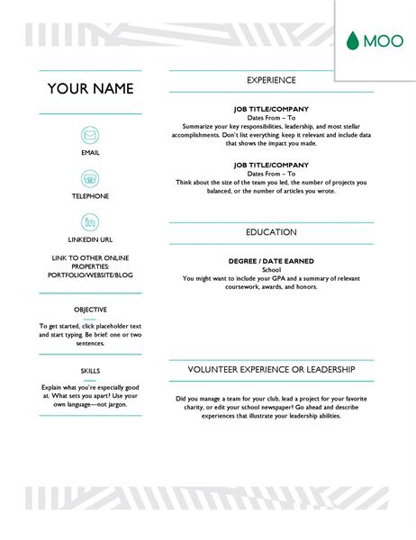32 creative word resume