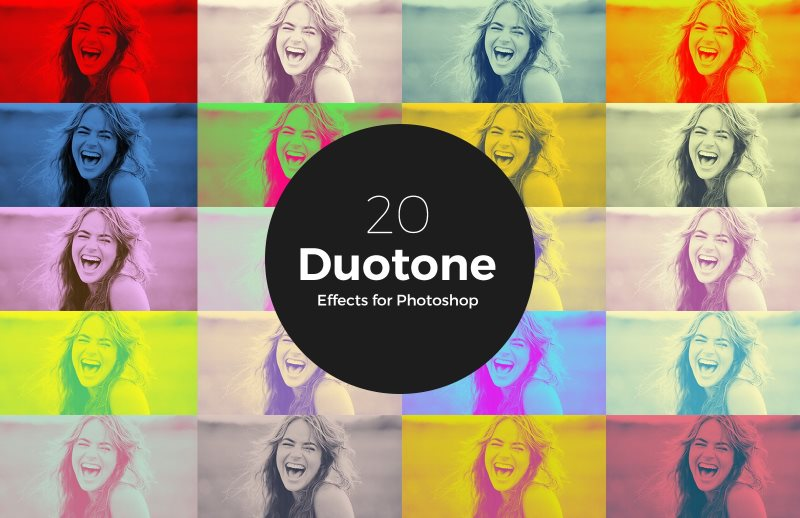 5 duotone photoshop action