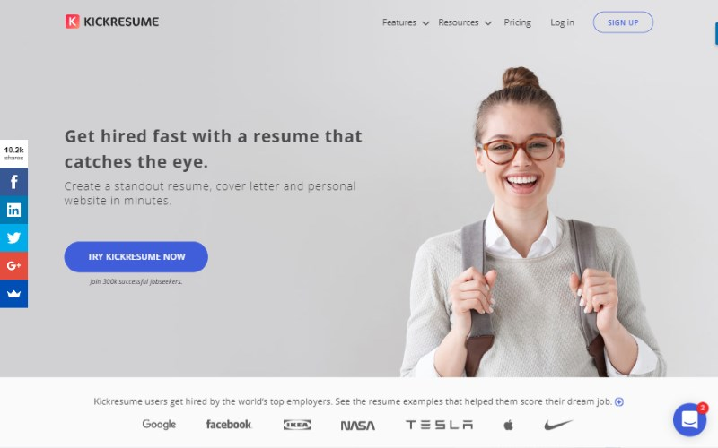 6 kick resume builder