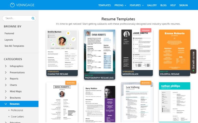 7 venngage resume template