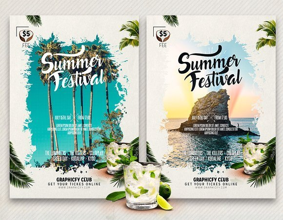 Summer Flyer for Party