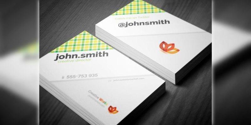 Business Tartan Texture Card Template