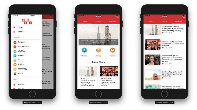 Multipurpose News App Template UI Ionic 3