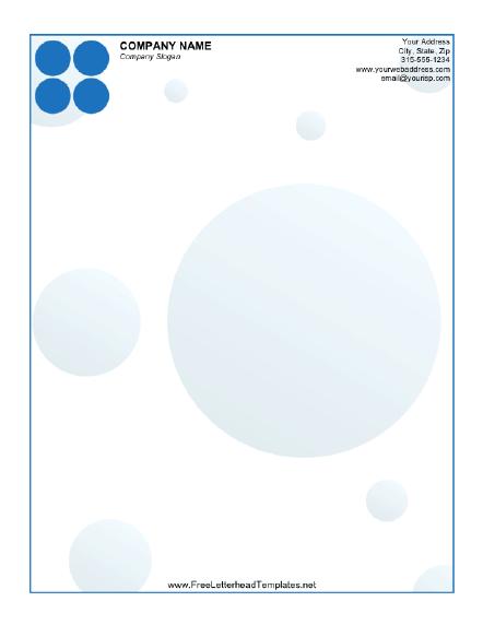 Business Letterhead Dots Design