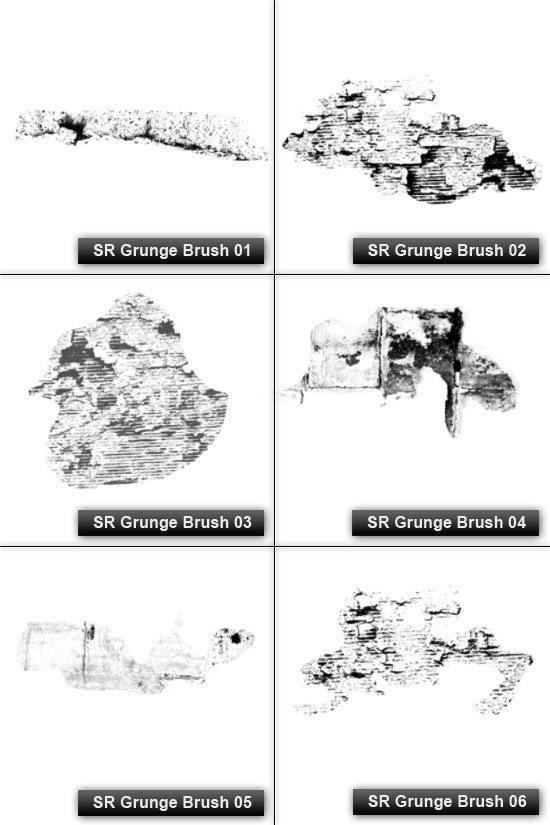 Free High Resolution Photoshop Grunge Brushes