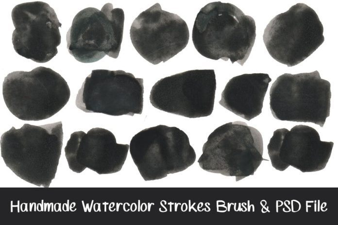 Handmade Watercolor Strokes Brushes