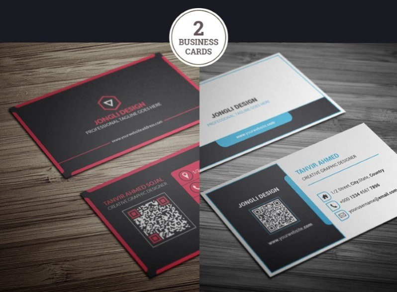 25 modern business card templates psd ai eps download tech free modern business card templates accmission Gallery