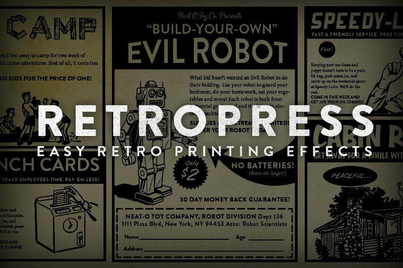 RetroPress Retro Print Action