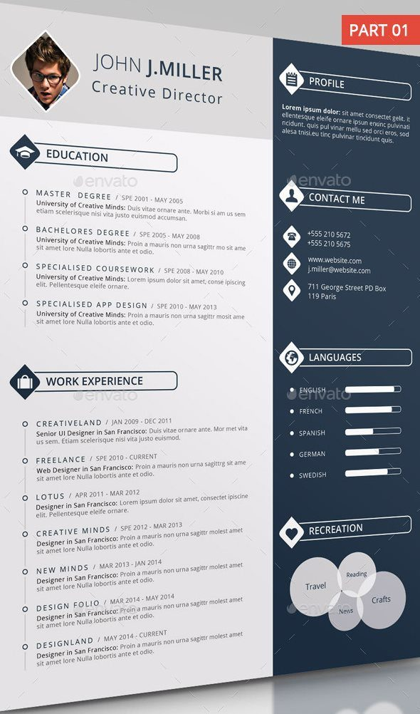 21 creative resume templates ms word free premium tech buzz online