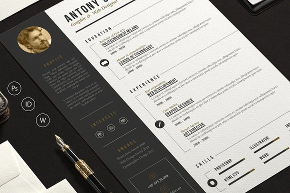 Pro Resume Creative Template with Cover Letter