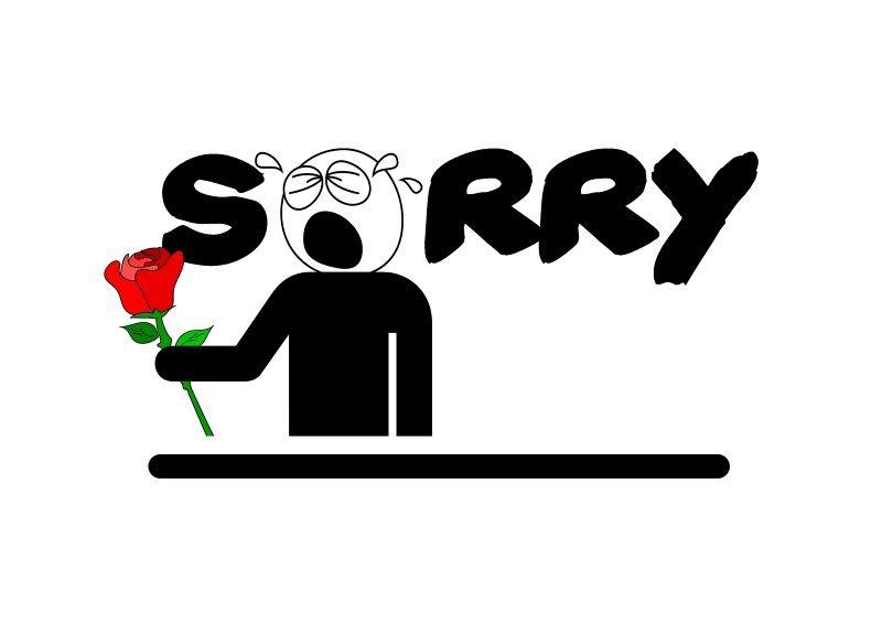 Cry Sorry Comic Greeting Card