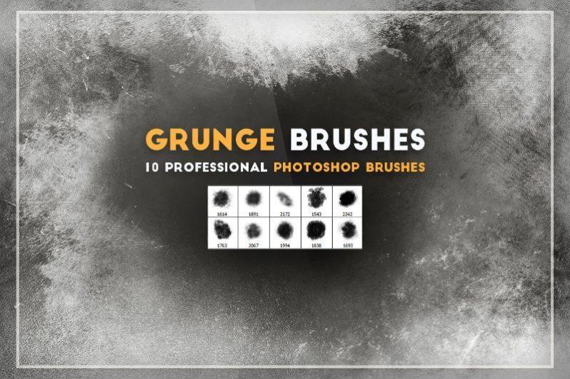 Professional Photoshop Grunge Brushes