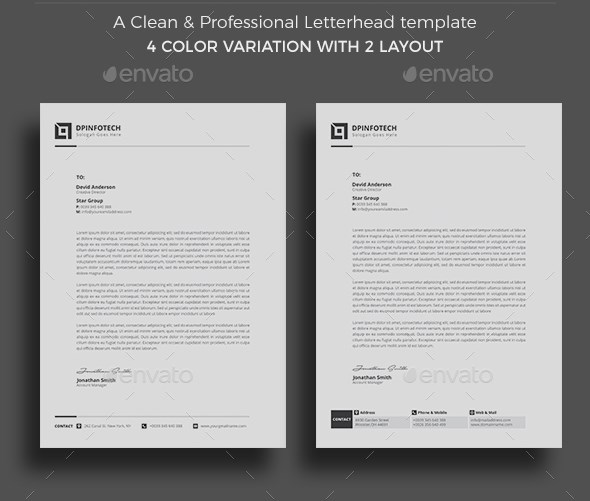 Clean and Professional Letterhead Template