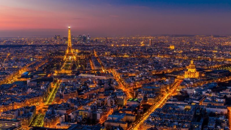 Paris City Night View