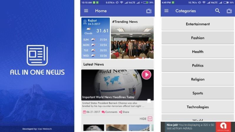 All in One News App