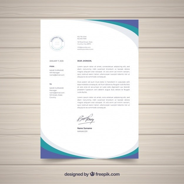 Letterhead Business Template in flat Design
