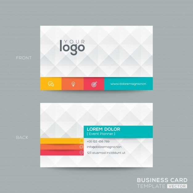 25 modern business card templates psd ai eps download tech free polygonal business card with 3d effect wajeb Gallery