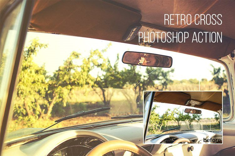 Retro Cross Free Photoshop Action