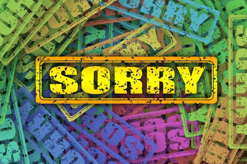 Colorful Sorry Stamp Background