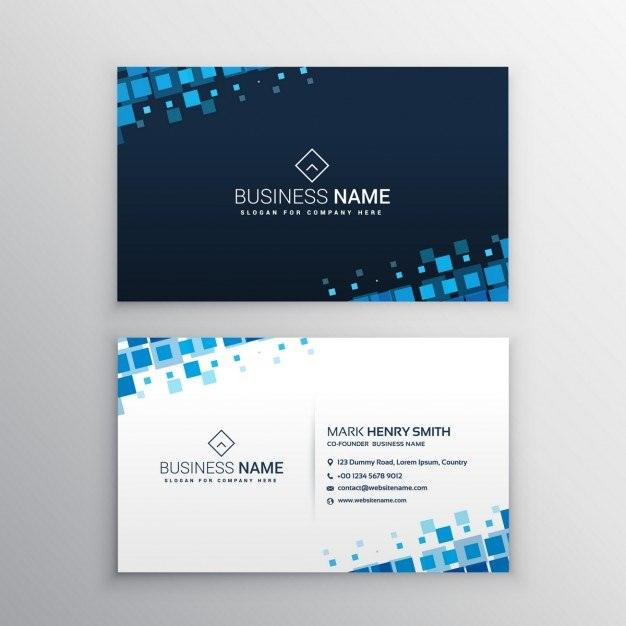 25 modern business card templates psd ai eps download tech business card with blue squares colourmoves