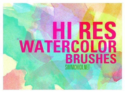 high resolution ps watercolor brushes