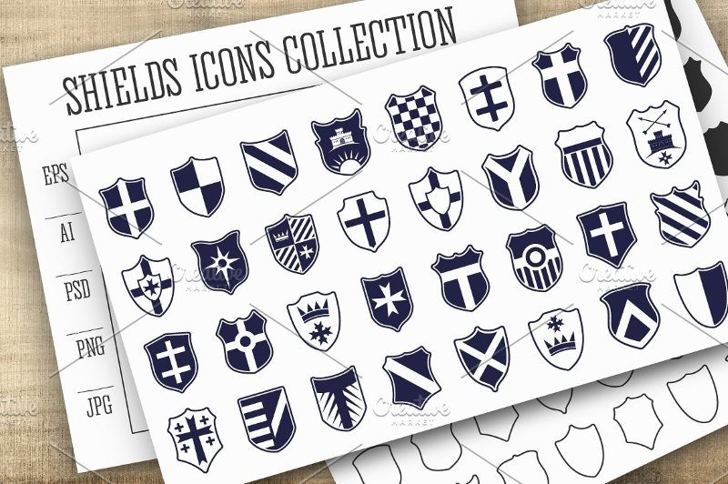 Shields Icons Vector Set