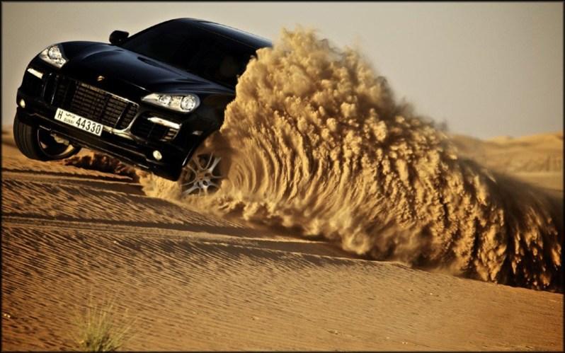 Desert and Car HD Wallpaper
