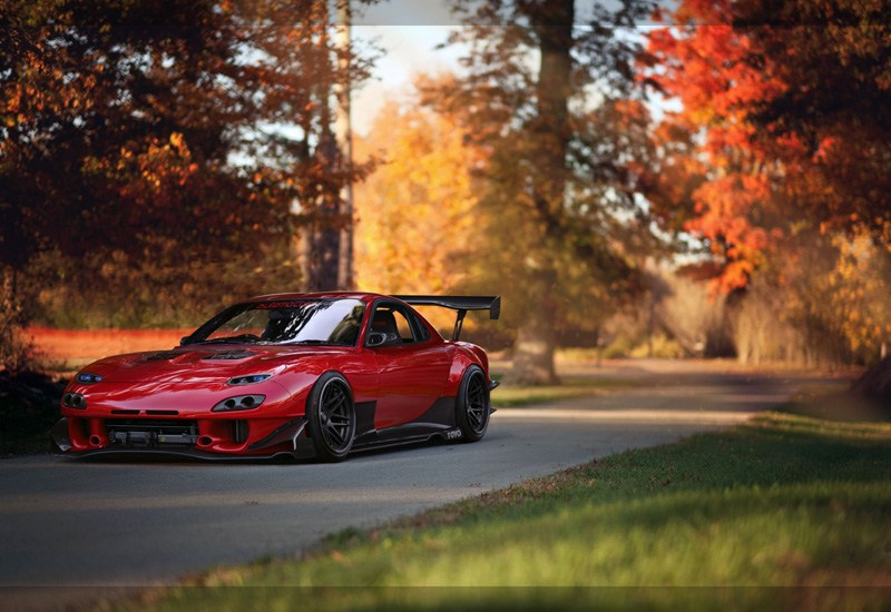 Red Mazda Car HD Wallpaper