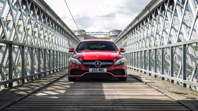 Red Mercedes AMG C63