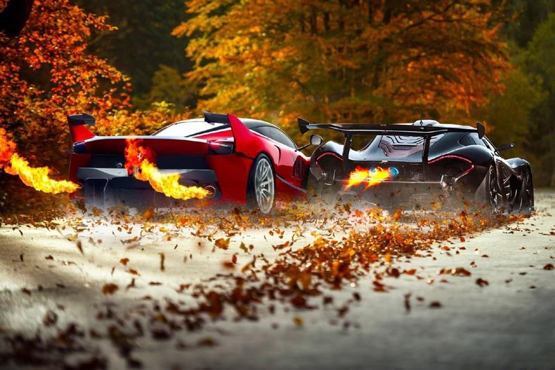 Ferrari Car Digital Art Wallpaper