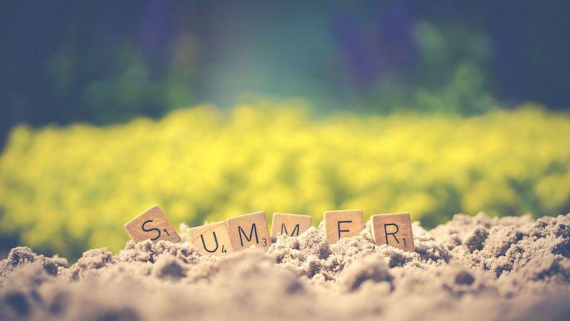 Summer Letter Cubes on Soil Wallpaper