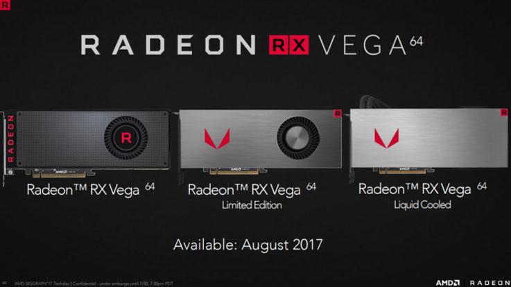AMD RX Vega: modelli delle nuove GPU AMD