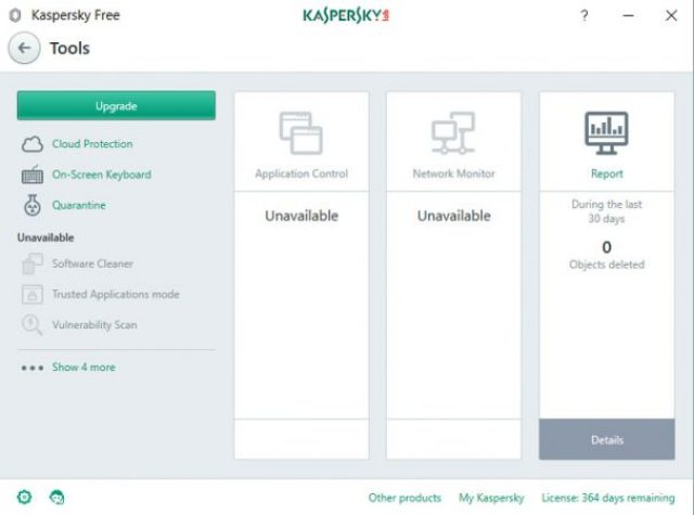 Kaspersky Free: altri strumenti di protezione