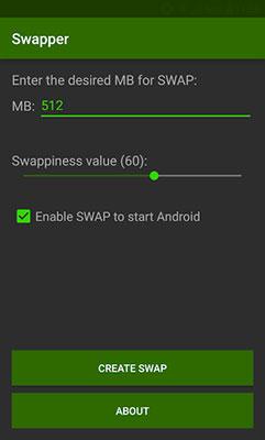 Creare una RAM virtuale su Android con Swapper
