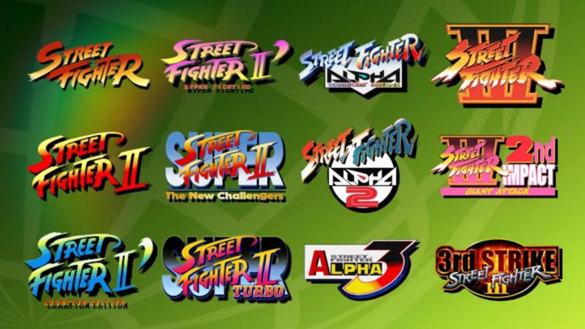 Titoli presenti in Street Fighter 30th Anniversary Edition