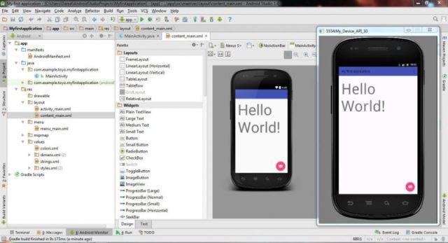 Interfaccia di Android Studio