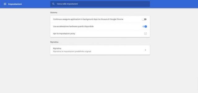 Ottimizzare Google Chrome attivando l'accelerazione hardware