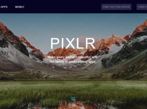 Pagina principale di Pixlr