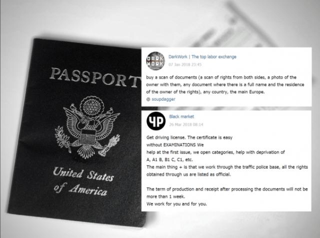 Vendita passaporto su Telegram