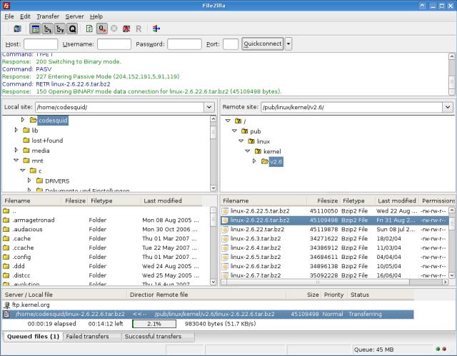 Protocollo FTP FileZilla