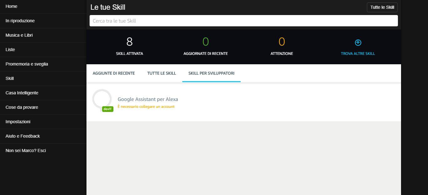 Come attivare Google Assistant su Alexa 9