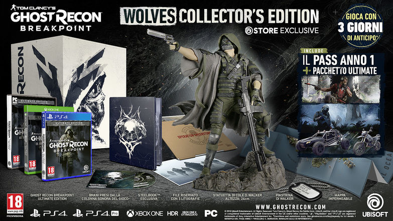 Ghost Recon Breakpoint Wolves Collector's Edition