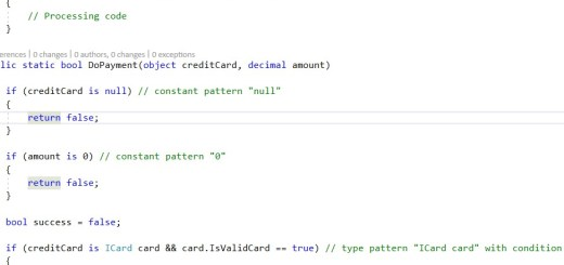 C#7 is expression with pattern