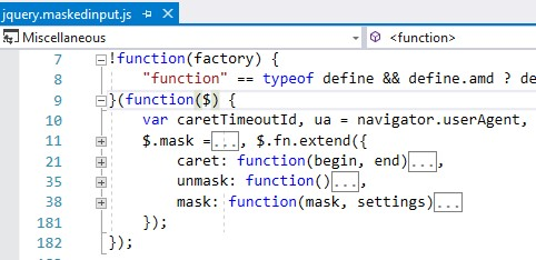 jquery plugin name conflict - mask input