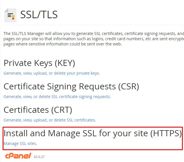 Install and Manage SSL for your site (HTTPS)
