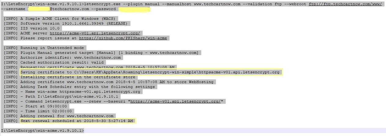 Letsencrypt SSL Certificate Generation