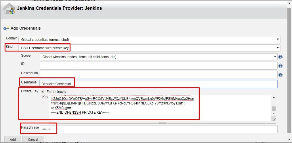 Jenkins Credentials Provider - Add Credentials New