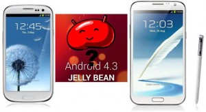 Android 4.3 update, jelly bean s3, note 2