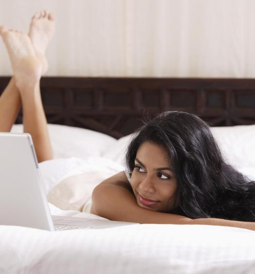 Laptop on Bed
