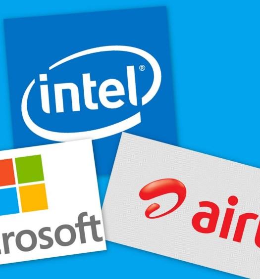 Airtel, Microsoft, Intel